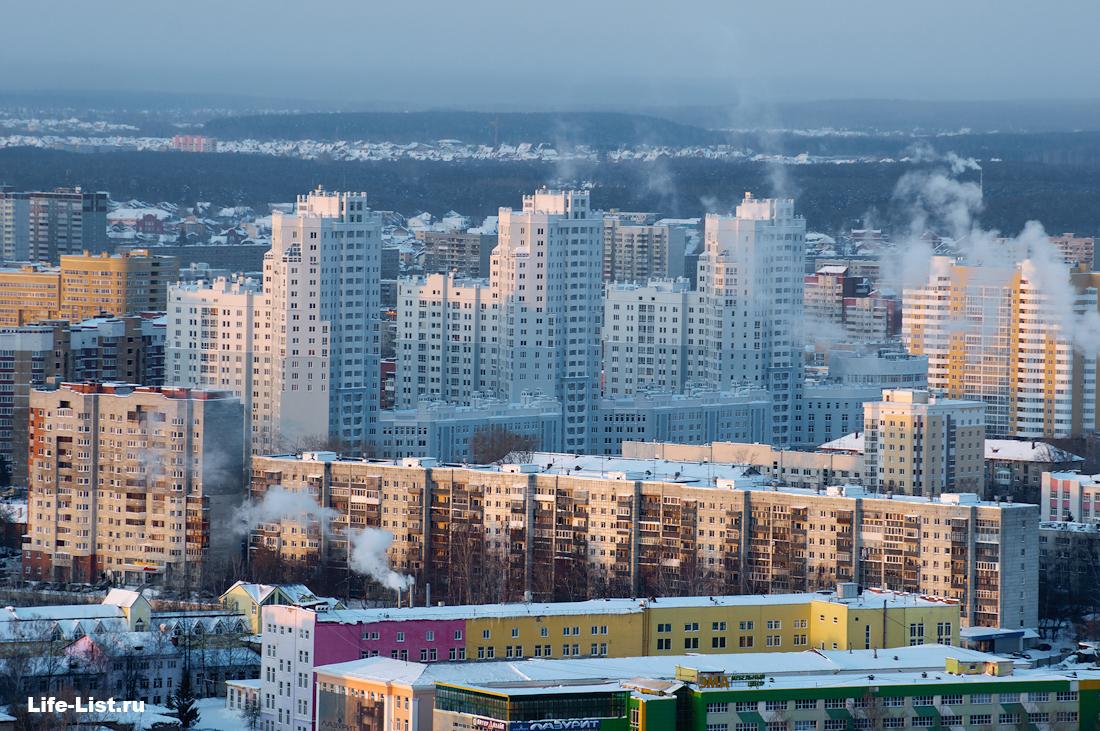 жк Татищевский завод ЭМА с высоты Екатеринбург