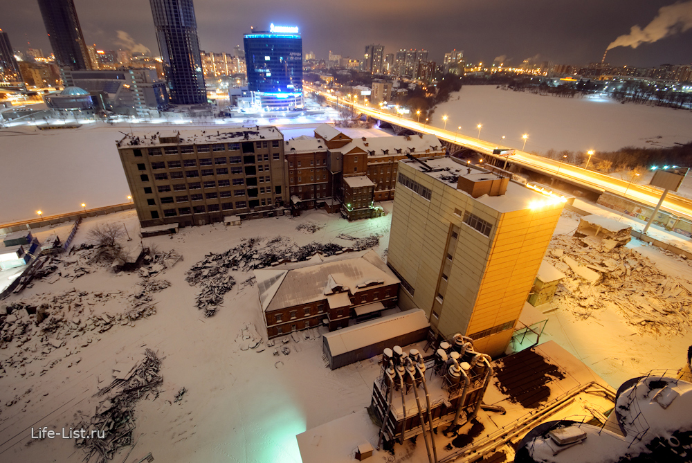 вид на ЕМЗ с высоты мукомольный завод с воздуха