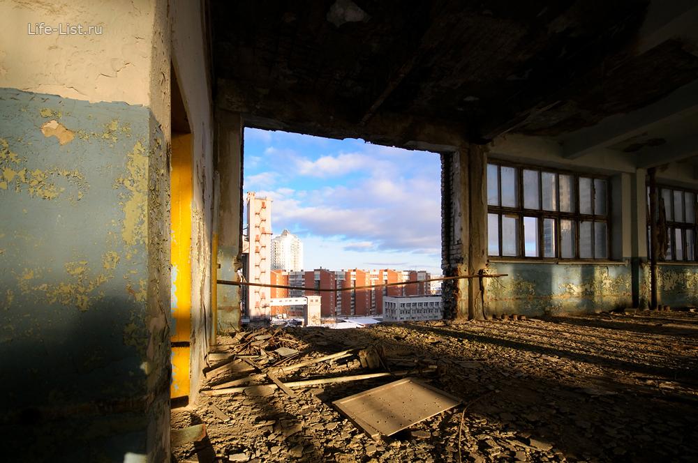 сносят здание Екатеринбургского мукомольного завод 2014 год размольный цех