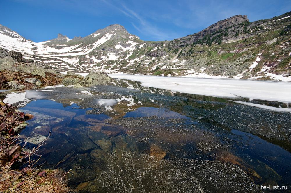 озеро золотарное в Ергаки природный парк