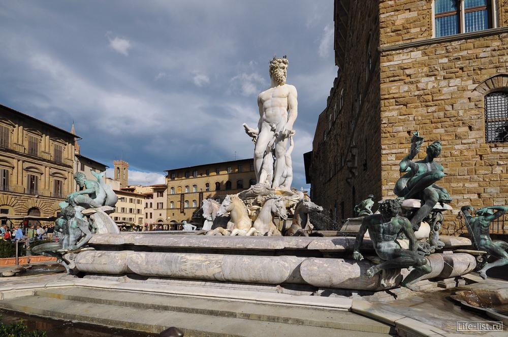Флоренция фонтан Нептуна на площади Венеции красивое фото Florence