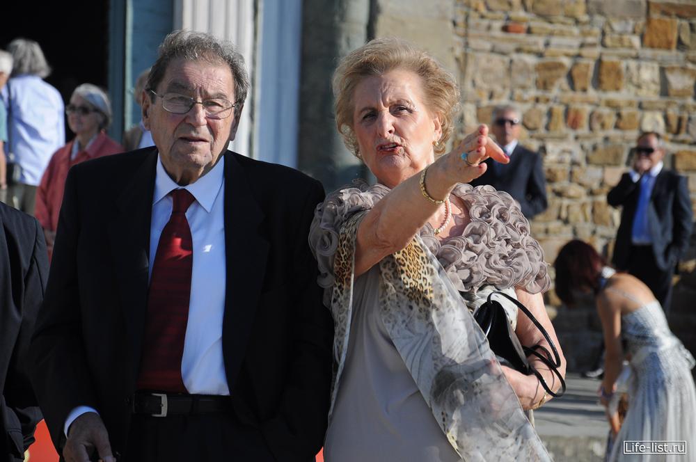 пожилые итальянцы на свадьбе Флоренция Florence