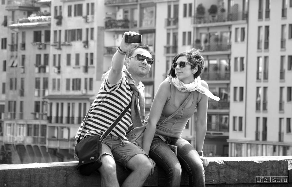 фото чб итальянцы во Флоренции фото Виталий Караван