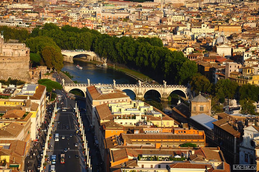 Рим фото с высоты с купола собора Петра фото Виталий Караван