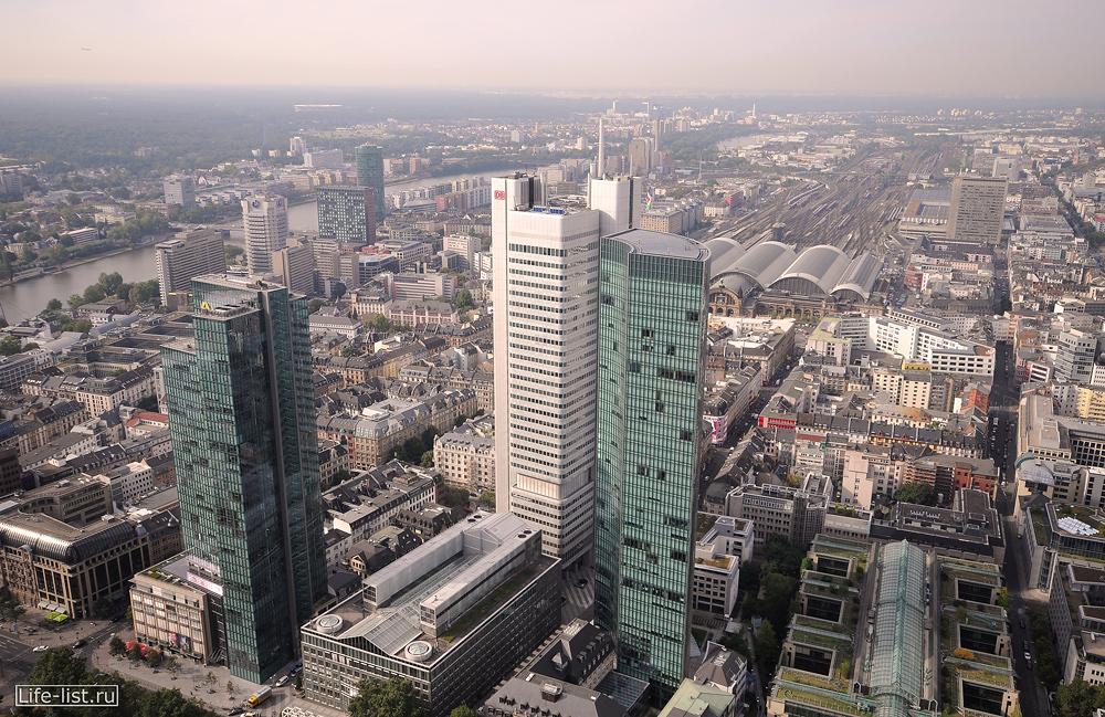 Вид на Франкфурт с небоскреба Main Tower фото Виталий Караван