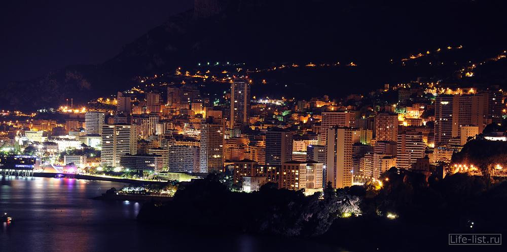 Вид на ночной Монако фото Виталий Караван