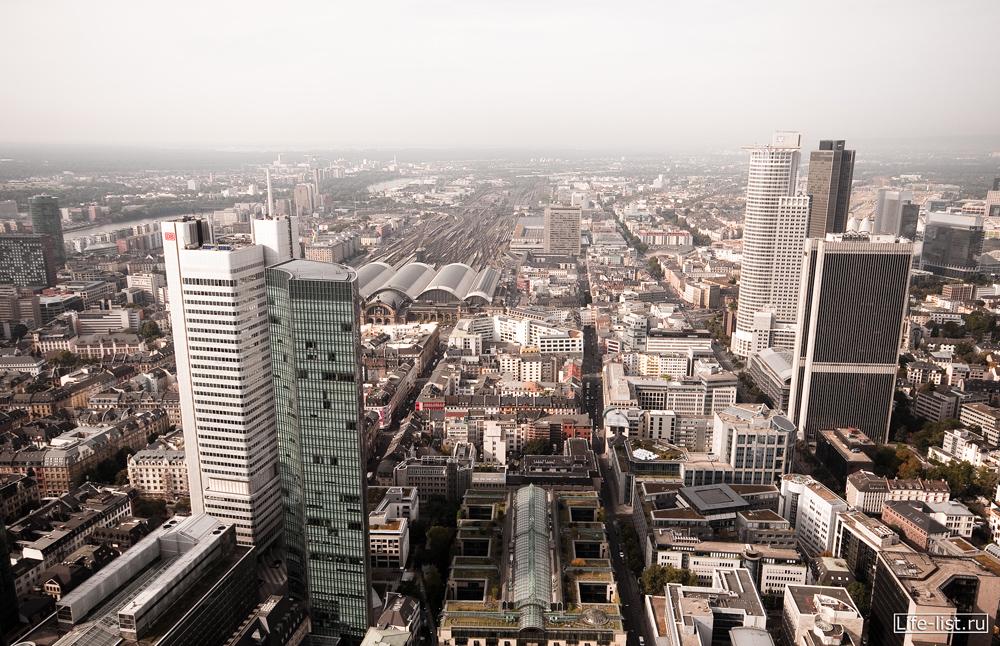 Франкфурт на майне с высоты небоскреба main tower фото Виталий Караван