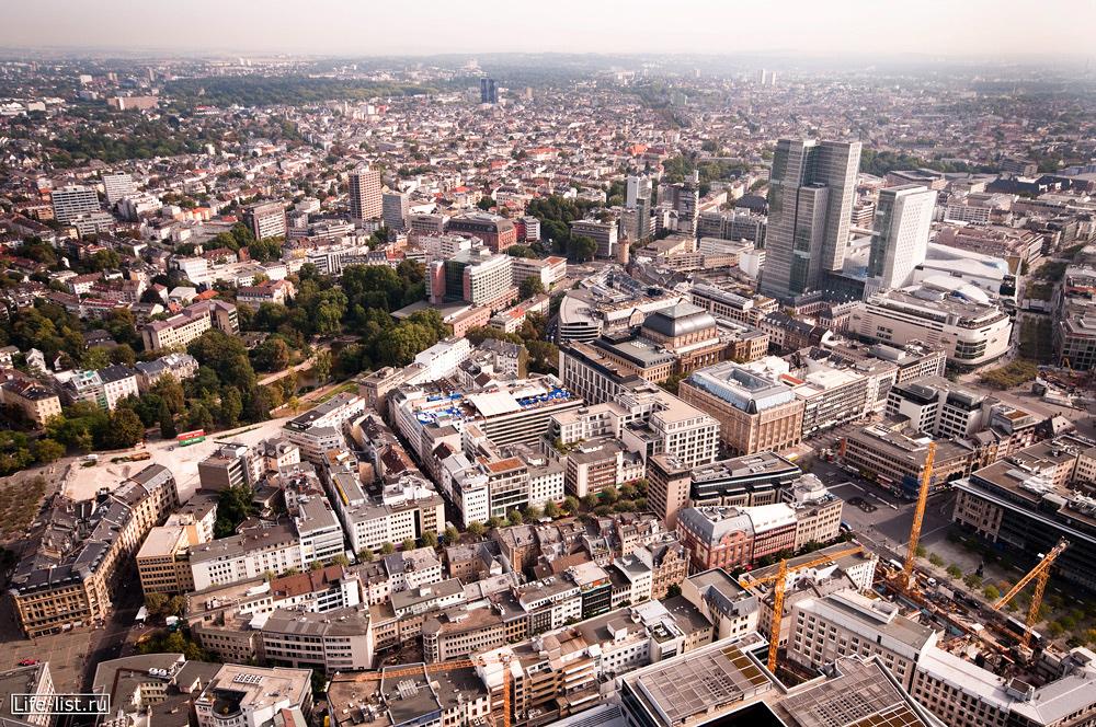 город с высоты франкфурт на майне Германия life-list.ru