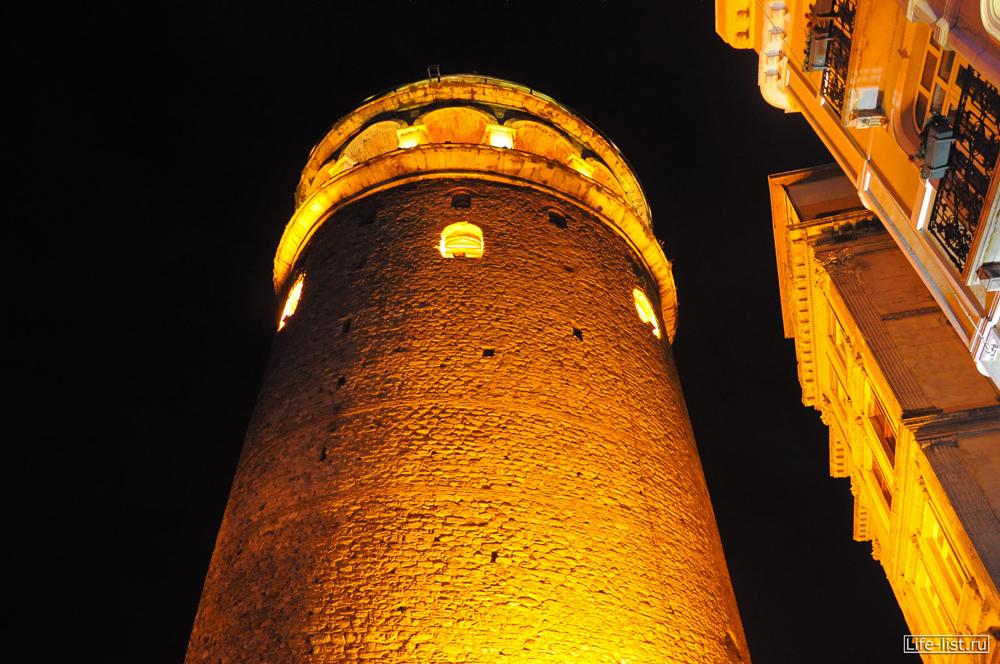 галатская башня вечером стамбул