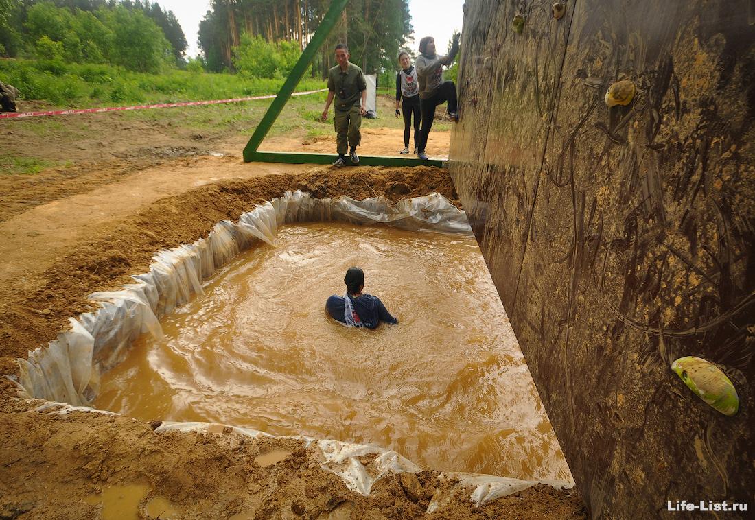 heroleague скалодром полоса препятствий девушка в воде