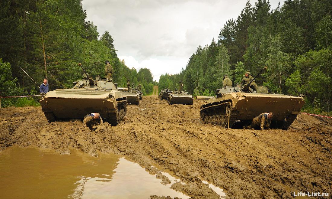 гонка героев этап под танками под бтр
