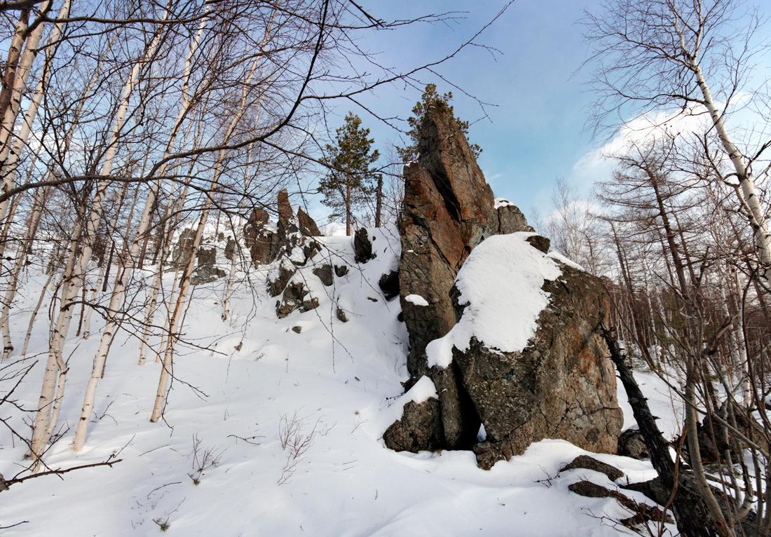 скалы на горе Аблей