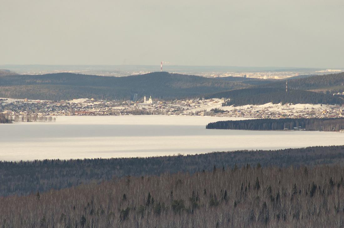 поселок Черноисточинск с горы Аблей