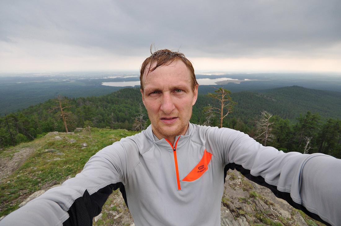 Виталий Караван на горе Сугомак