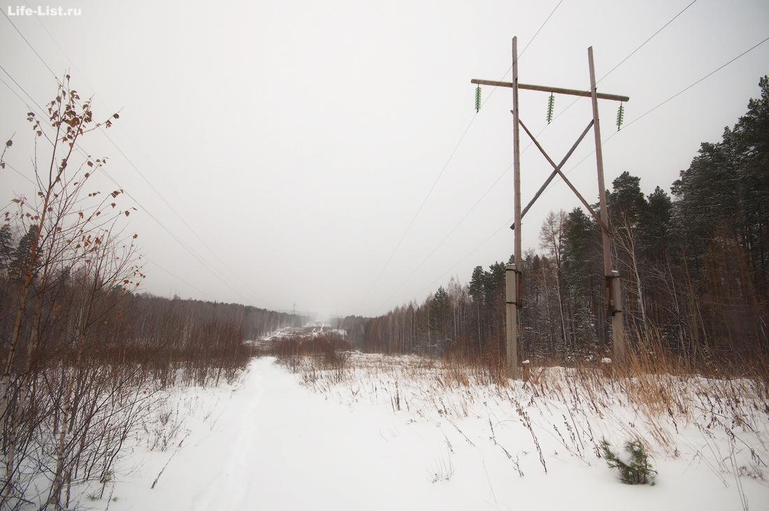 просека дорога Балабан Дегтярск