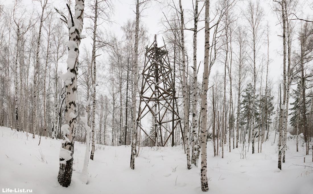 деревянная вышка на горе Балабан