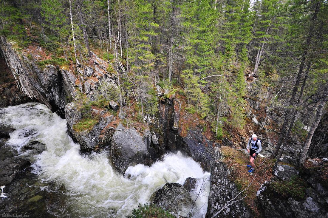 водопады на реке Жигалан хребет Кваркуш
