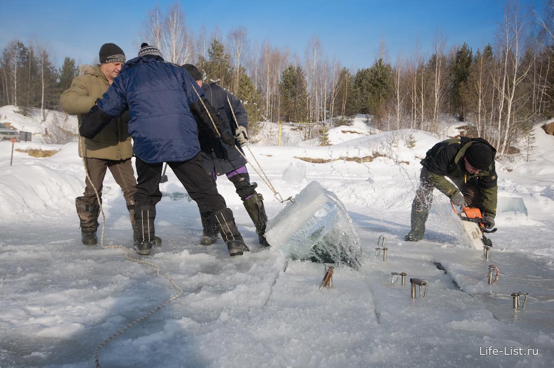 подготовка полыни для подледного погружения прорубь айсдайвинг