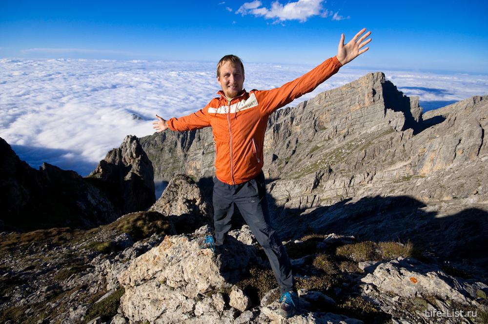 Виталий Караван в горах Ингушетии гора цей лоам