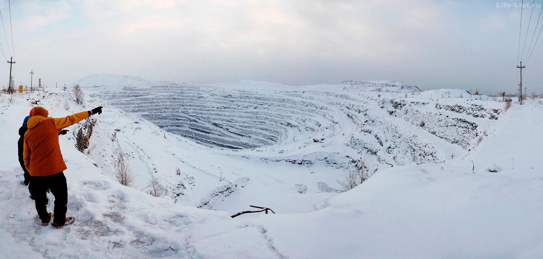 панорама Карагайский карьер  Сатка