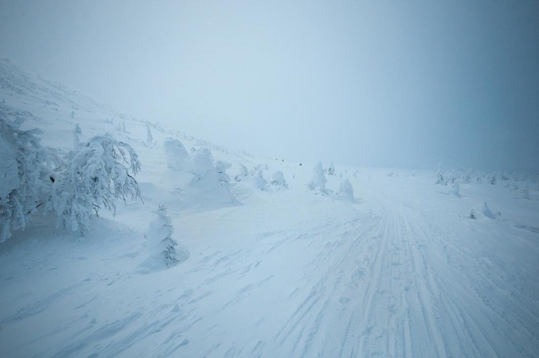 дорога плато зимний Иремель Южный Урал
