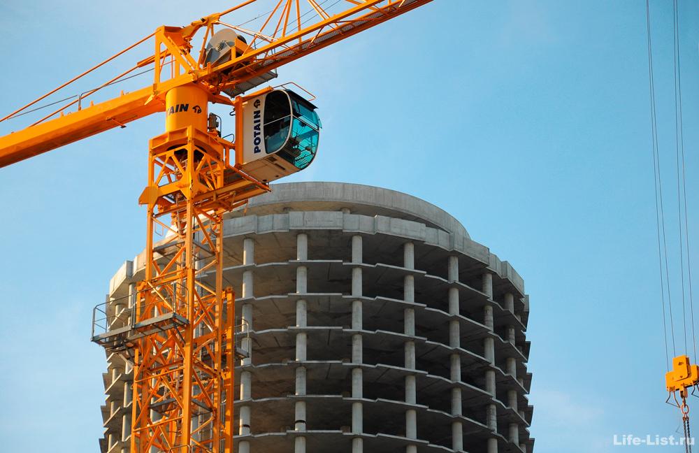 Башня исеть строительство Екатеринбург небоскреб Кран Potain