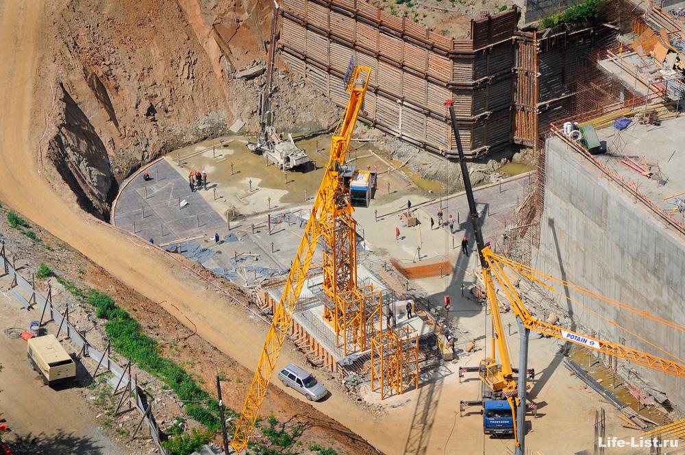 Котлован башни исеть Екатеринбург строительство
