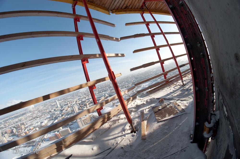 стройка башня Исеть зима 2014 года Екатеринбург