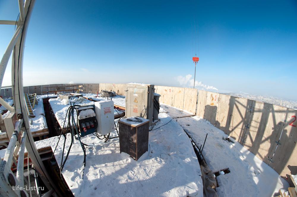 последний этаж башни Исеть строительство зима 2014 год Екатеринбург