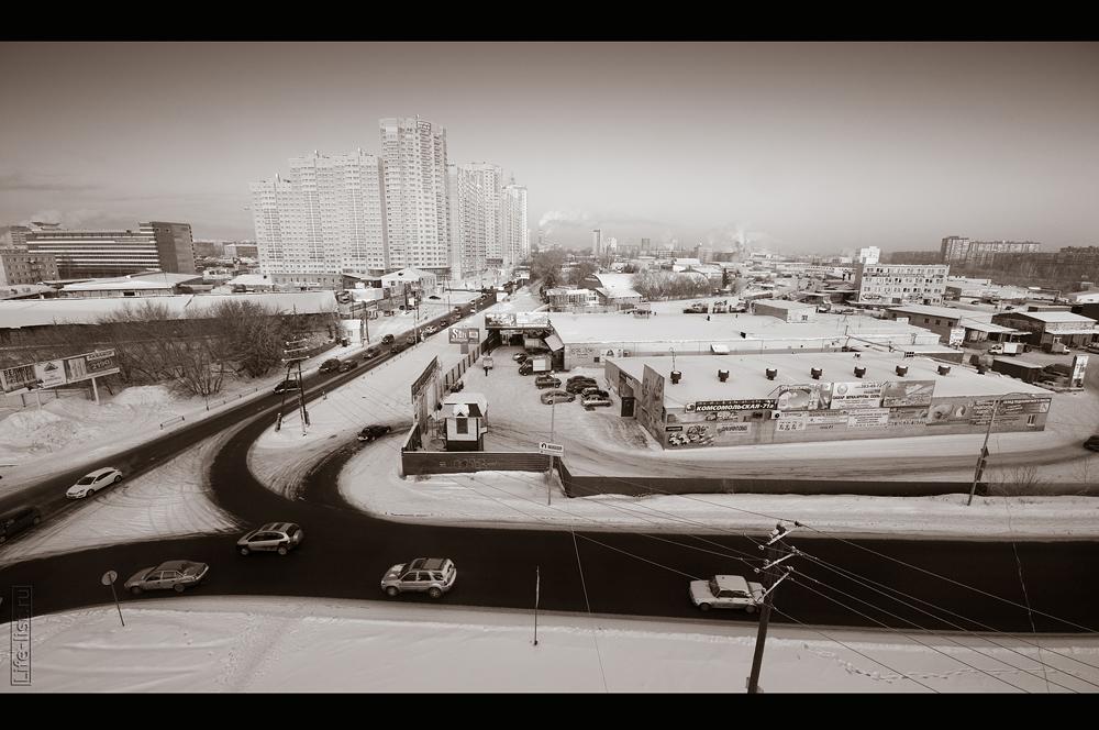 Екатеринбург с высоты дорога у Калины развязка