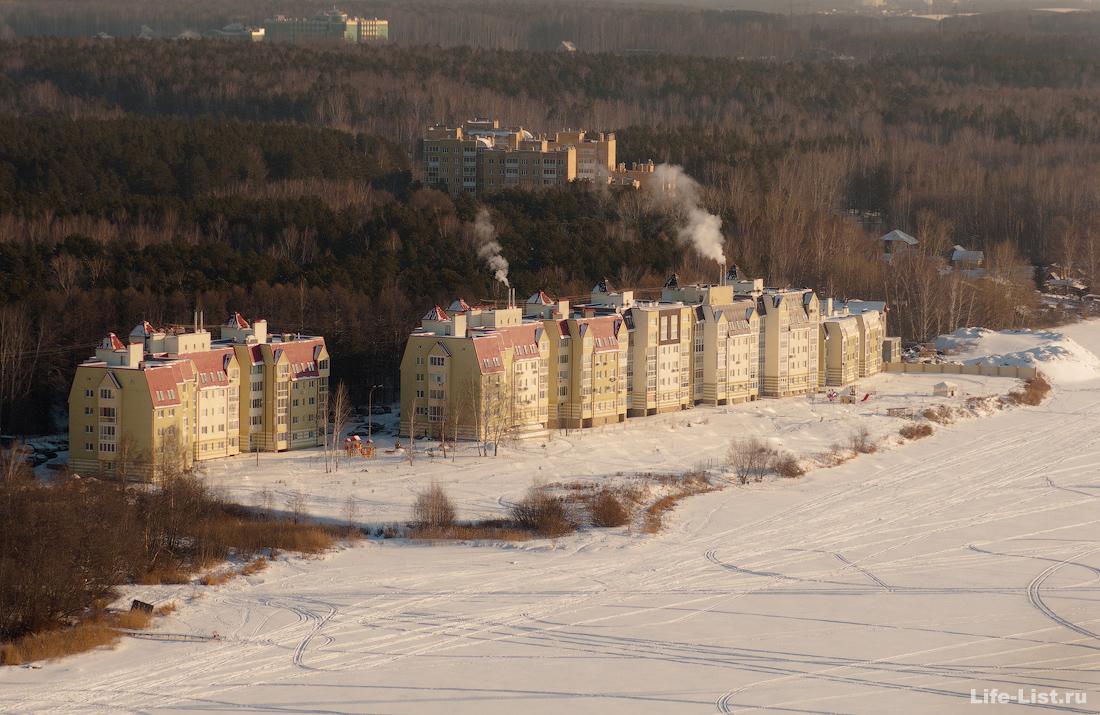 Рощинская дома Екатеринбург с высоты