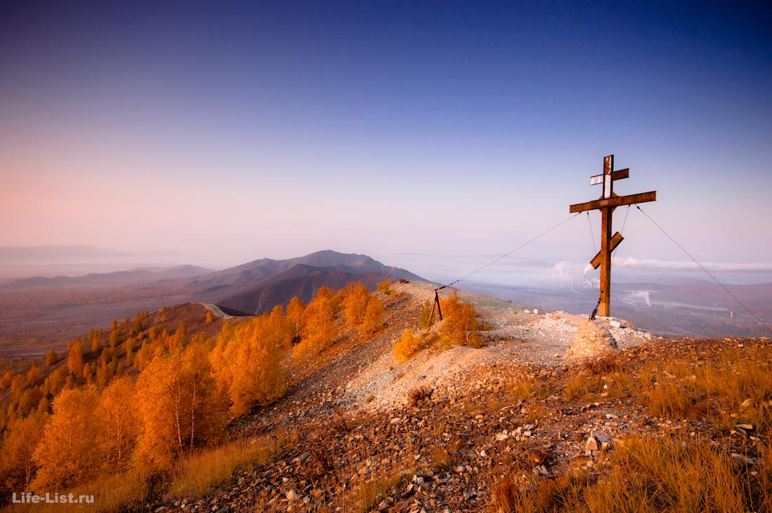 Поклонная гора в Карабаше красивая осень
