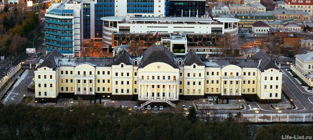 Резиденция полномочного представителя президента РФ в УРФО фото с высоты