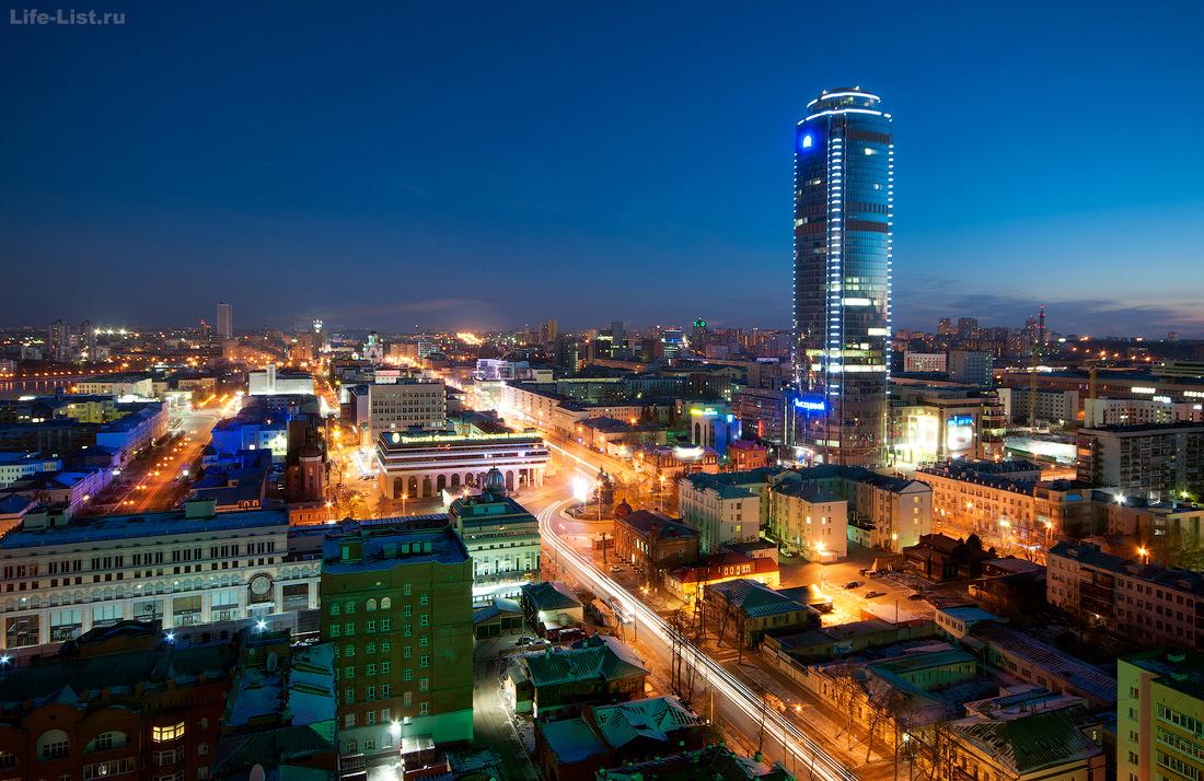 небоскреб Высоцкий с высоты фото