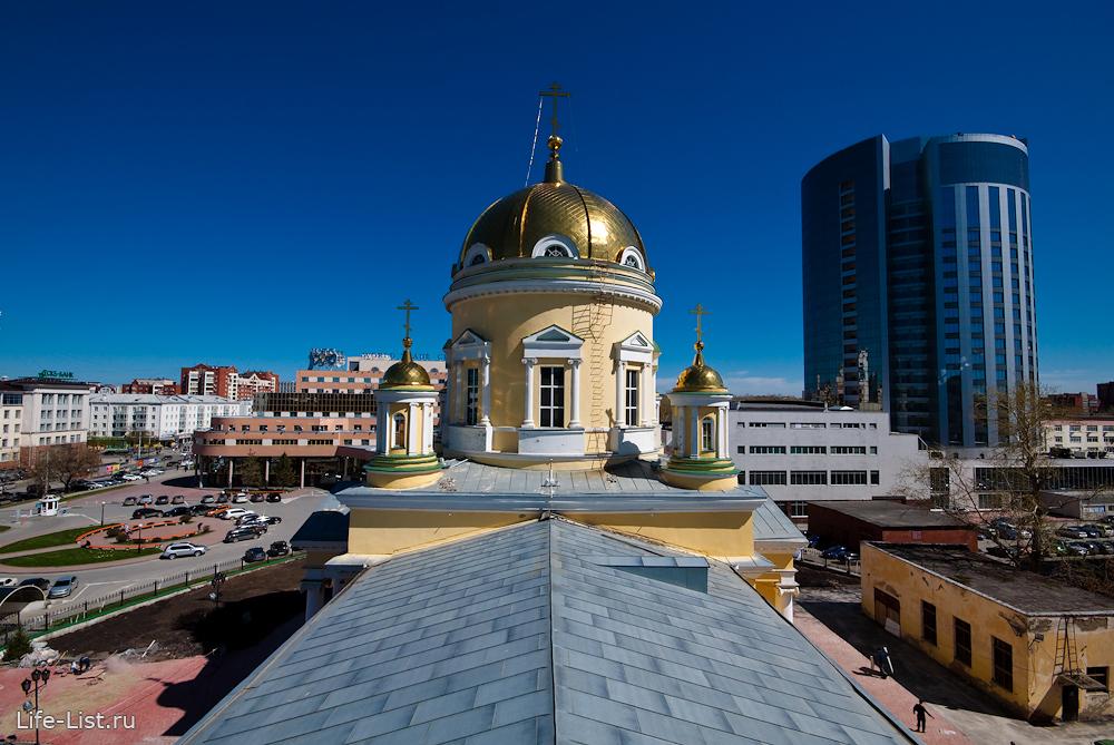 Вид из колокольни Свято-Троицкого Собора Екатеринбург