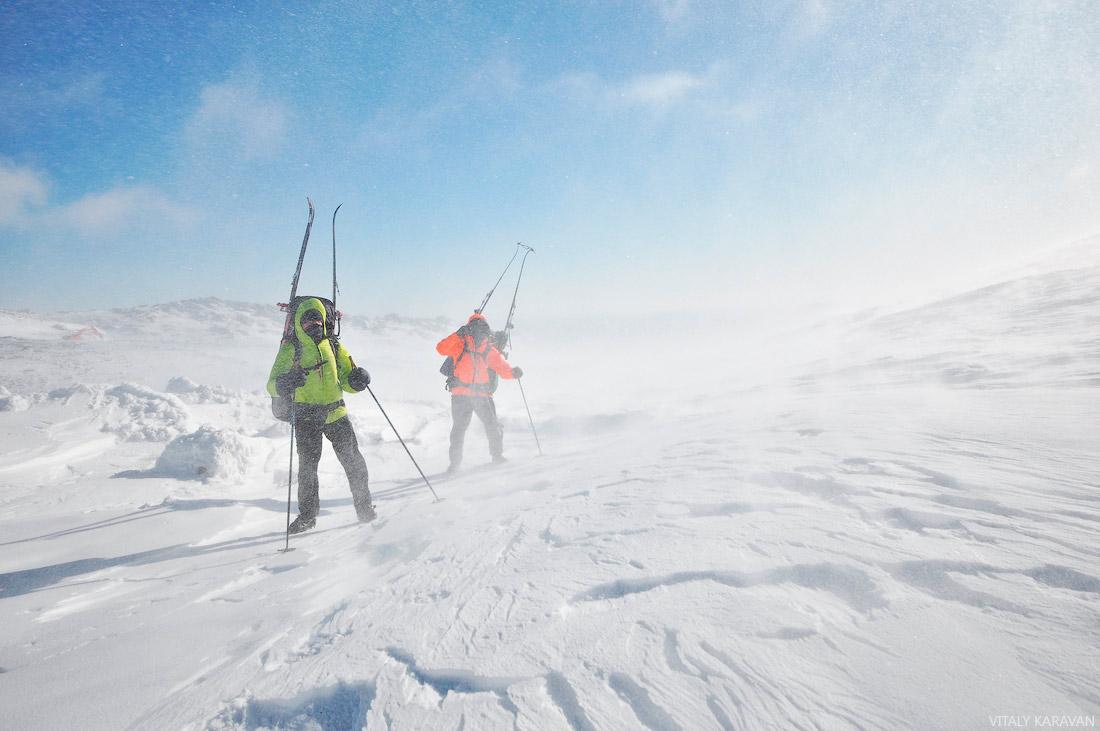 Зимний лыжный поход на Конжак фото Виталий Караван