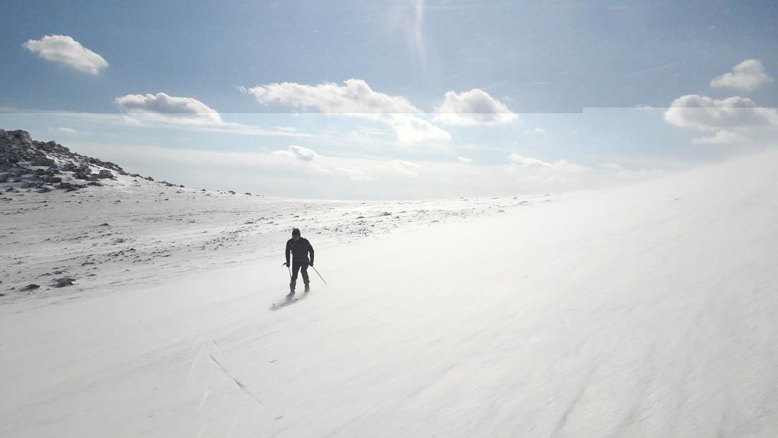 однодневный зимний лыжный поход на Конжак