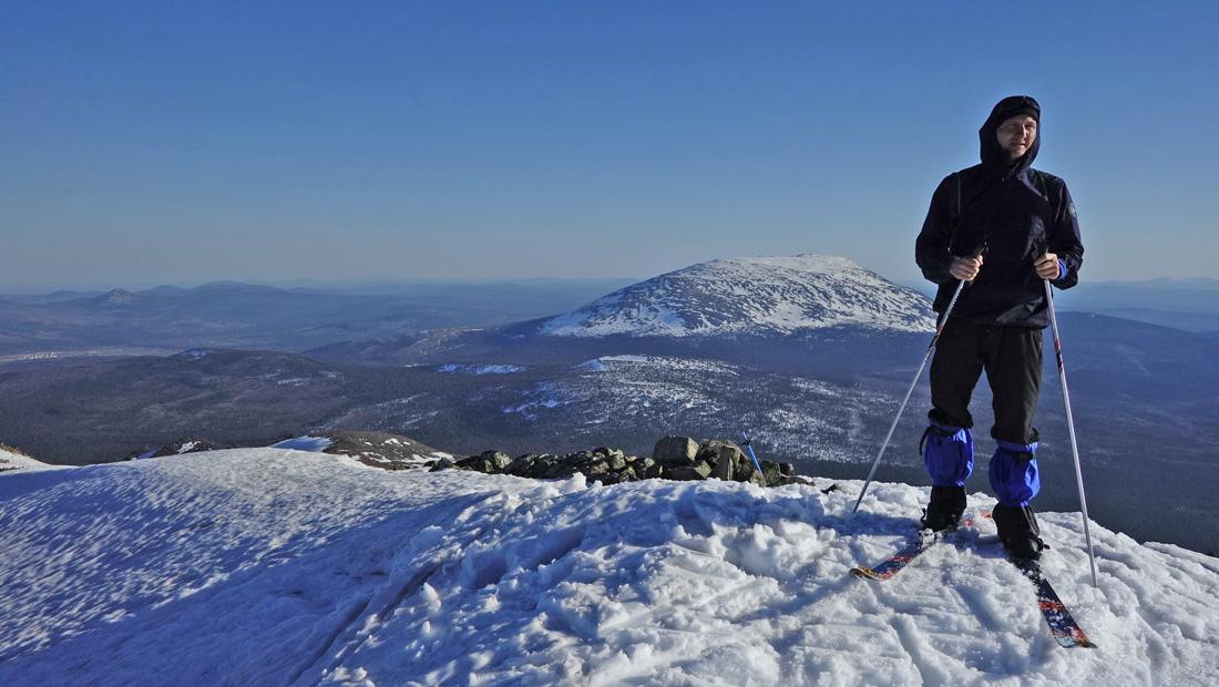 на вершине Острой Косьвы Лыжный поход