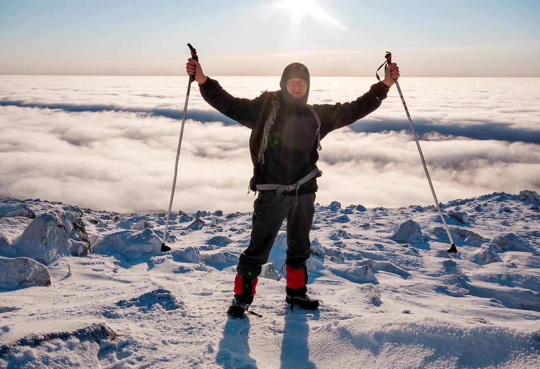 Подъем на Косьвинский камень зимой Северный Урал поход