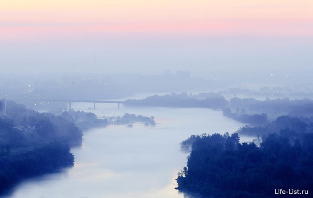 утренняя дымка над Енисеем фото Виталий Караван