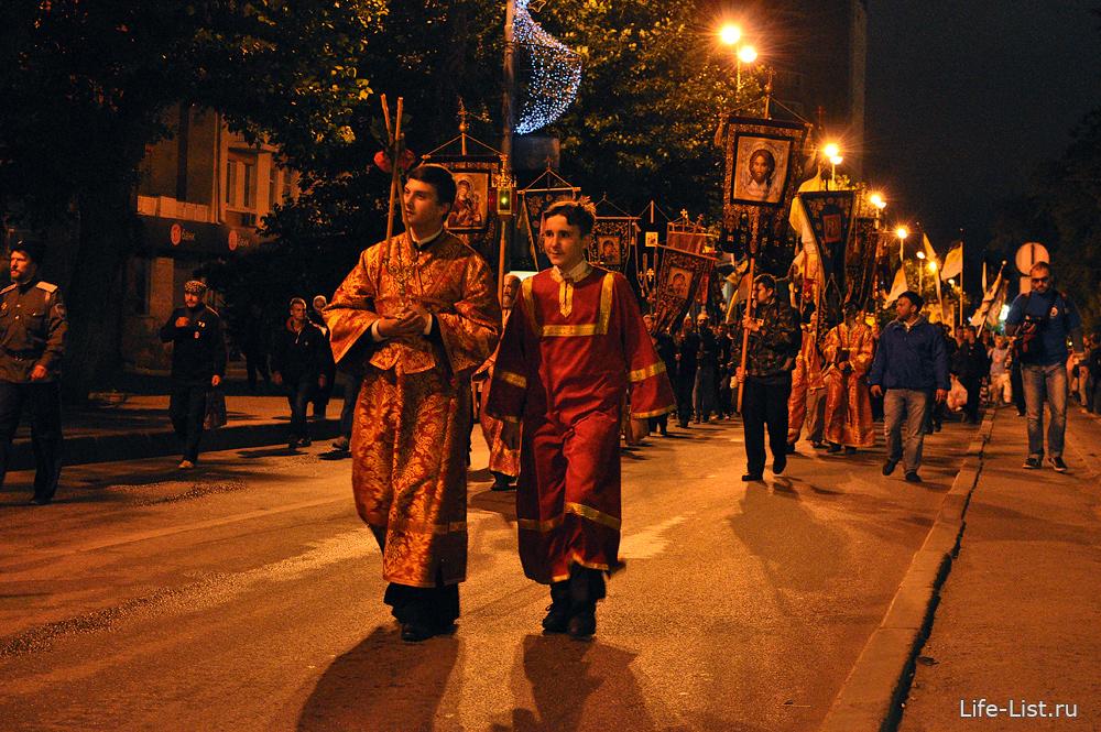 Крестный ход Екатеринбург ночной