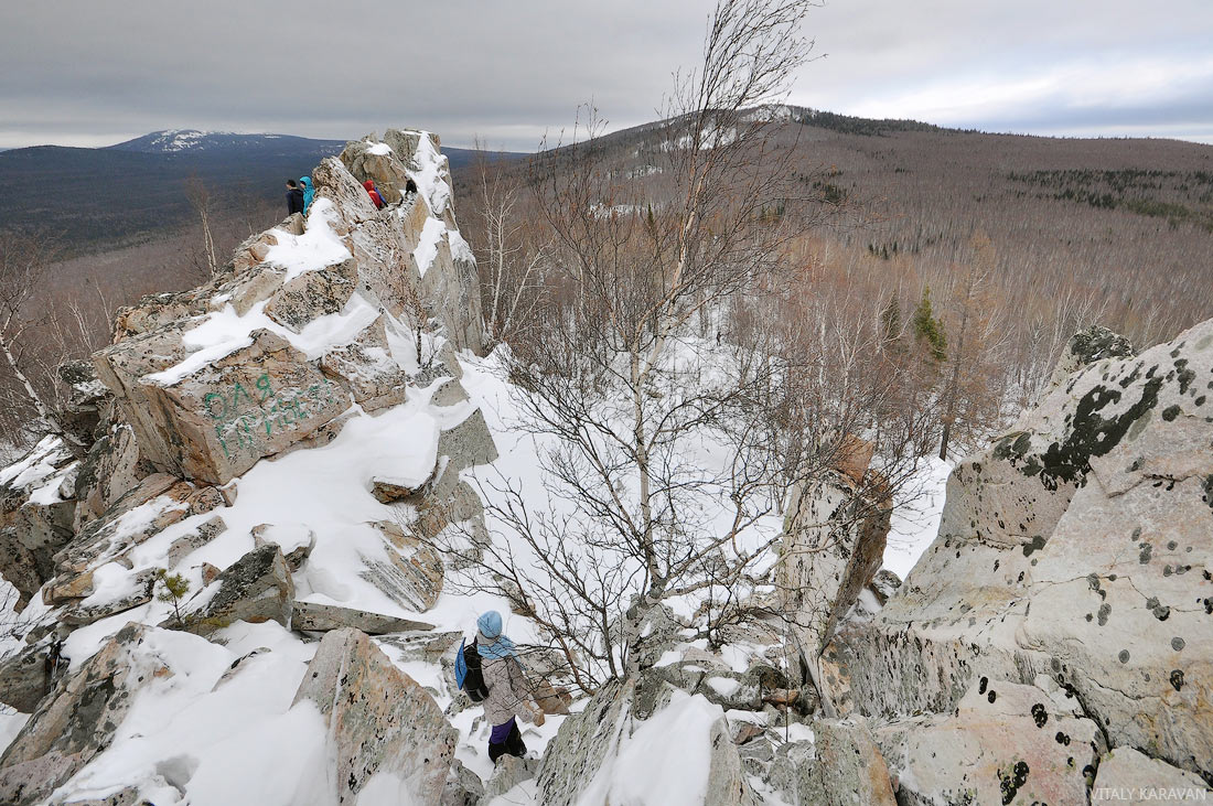 скалы на горе Крутой Ключ Челябинская область