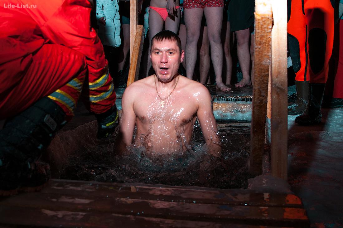 ночные крещенские купания озеро photo Vitaly Karavan