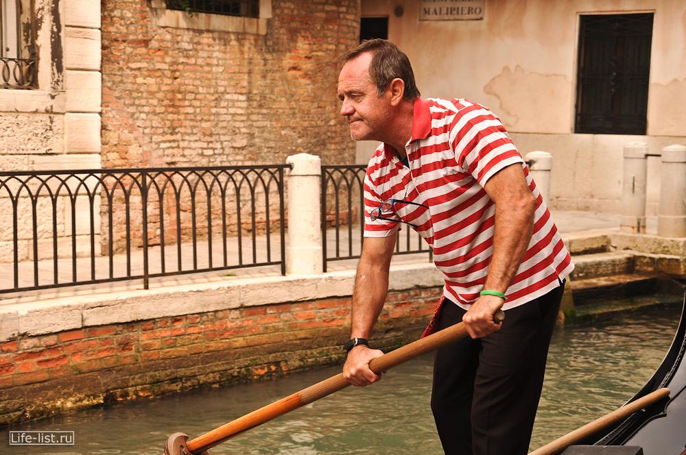 Гондольер в Венеции фото Виталий Караван