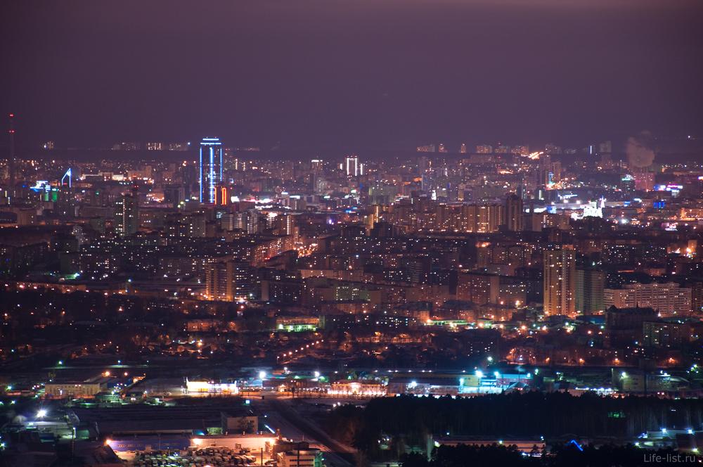 Радиомачта Вид на Екатеринбург с высоты 263 метра