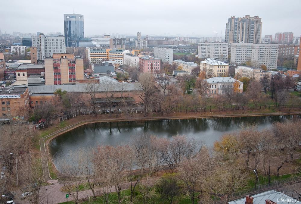 Москва с высоты. Красногвардейский пруд