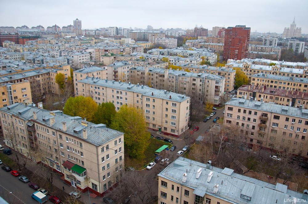 Москва с высоты. Массовая застройка 30-х годов