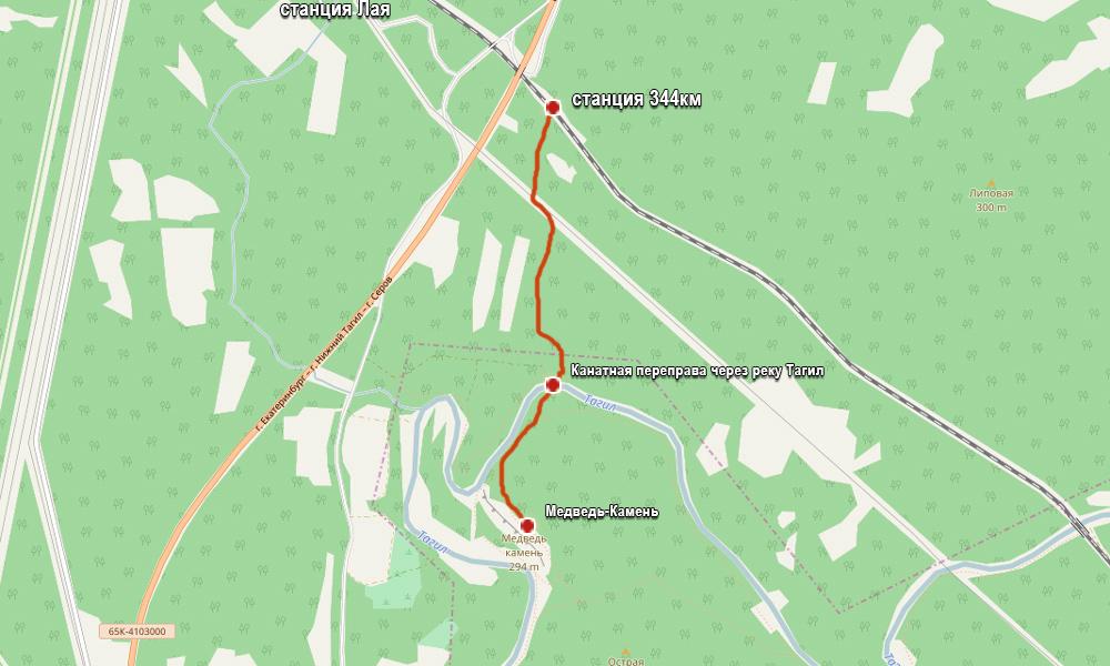 карта тропа как добраться до медведь камня