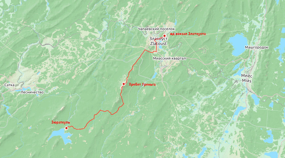 Беговая многодневка по Южному Уралу 2016 карта день 3