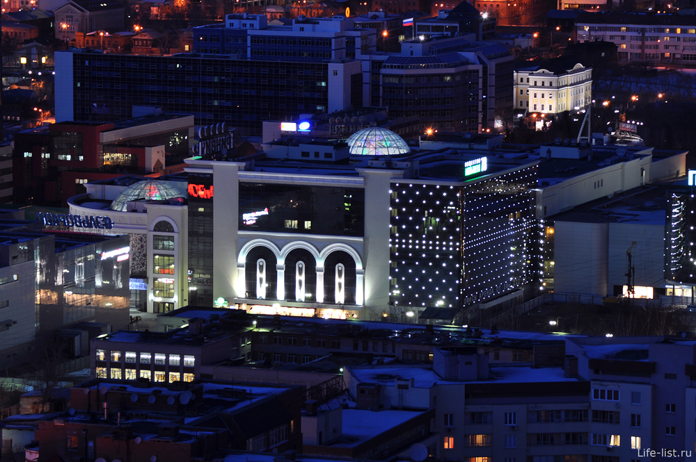 Торговый центр Гринвич с высоты